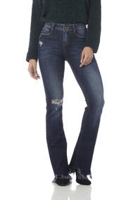 f061948f4 Fumo De Corda Desfiado Calcas - Calças Jeans Feminino Azul marinho ...