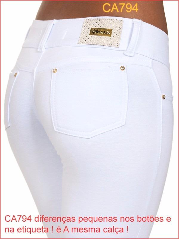 68fa5547a calça feminina branca temos jeans flare skinny social 794. Carregando zoom.