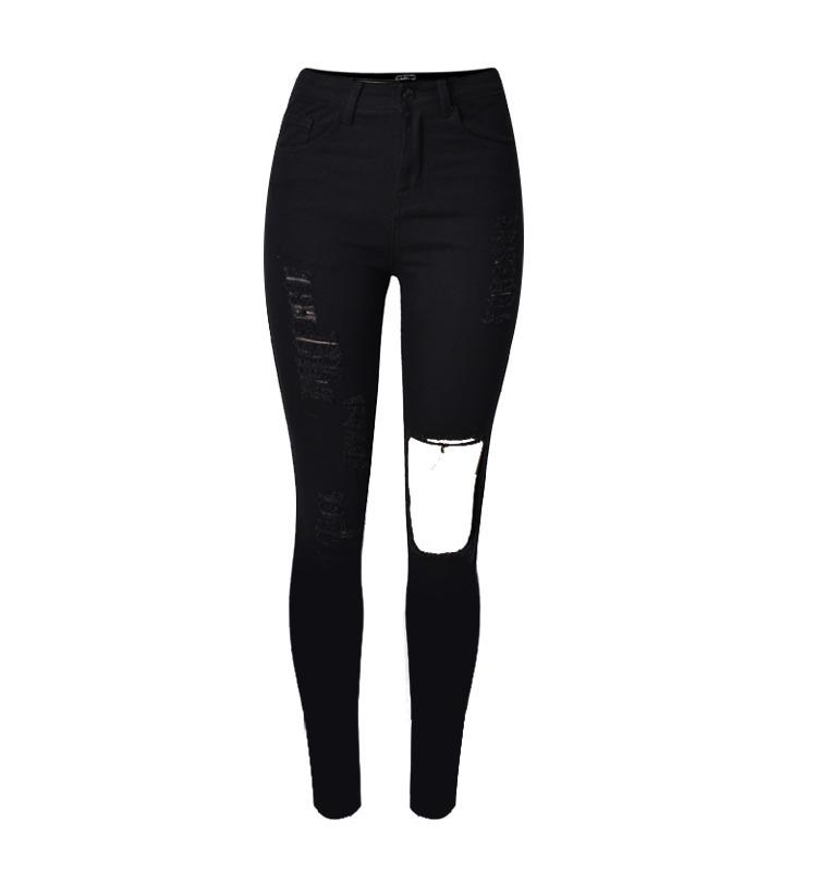 a9cf289ade calça-feminina-destroy-rasgada-preta-jeans-moda-2018. Carregando zoom.
