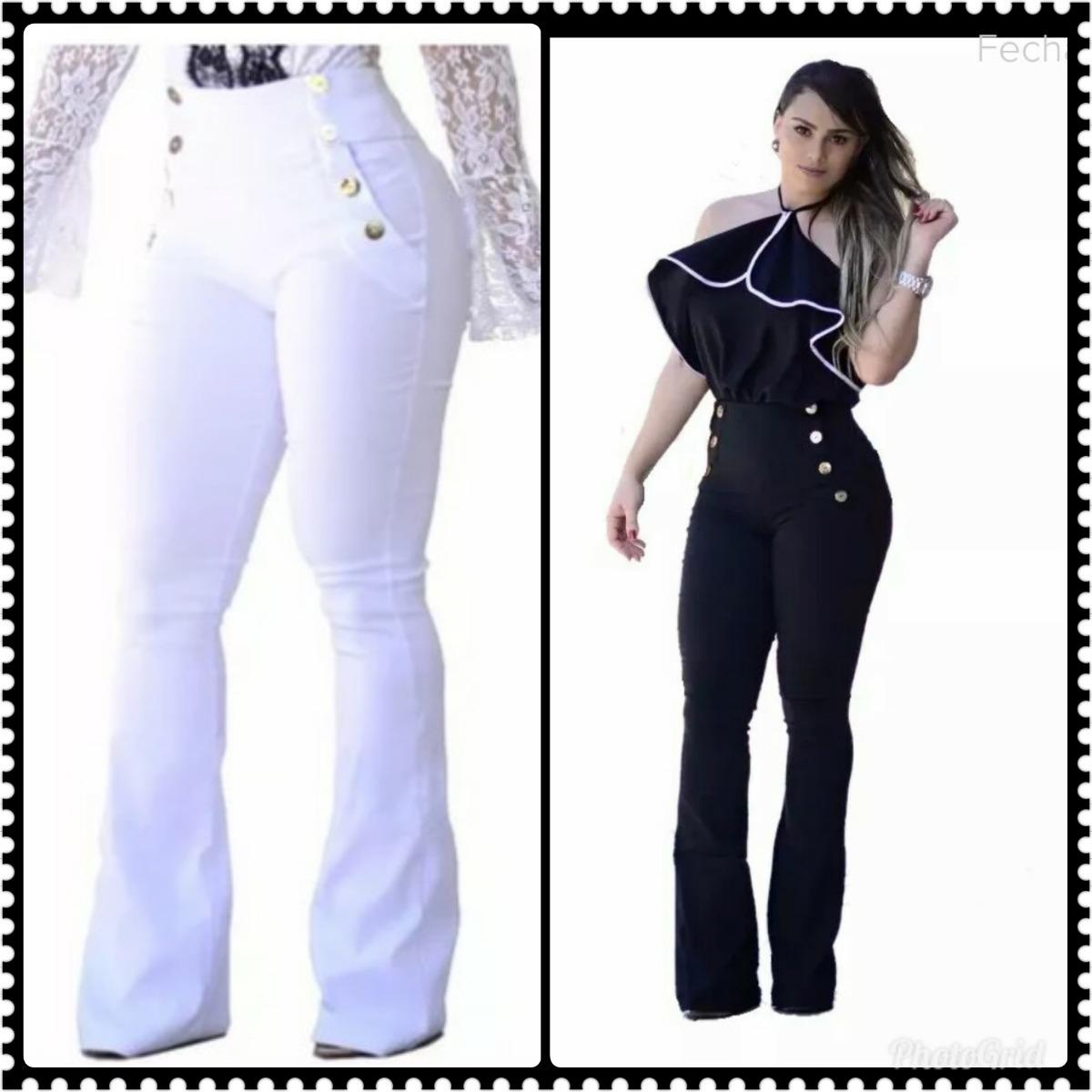 calça feminina flare bailarina boca de sino suplex bolsos. Carregando zoom. 649c0803d7369