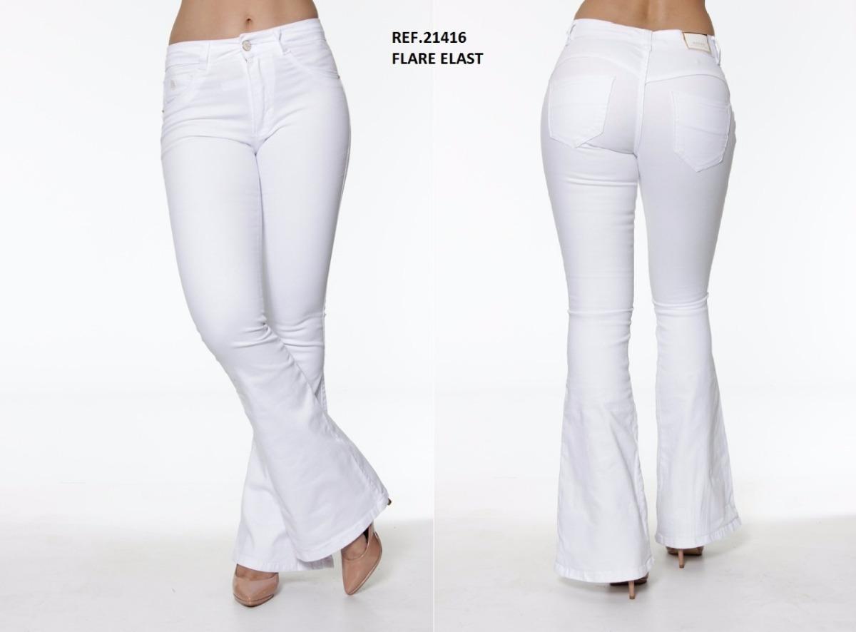 950462d00 Calça Feminina Flare Branca Biotipo 21416 - R$ 104,00 em Mercado Livre