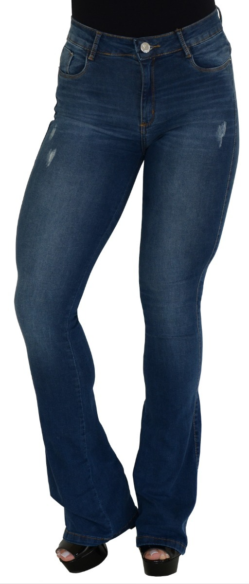 88bf1df47 calça feminina flare cintura alta consciência jeans 2019. Carregando zoom.