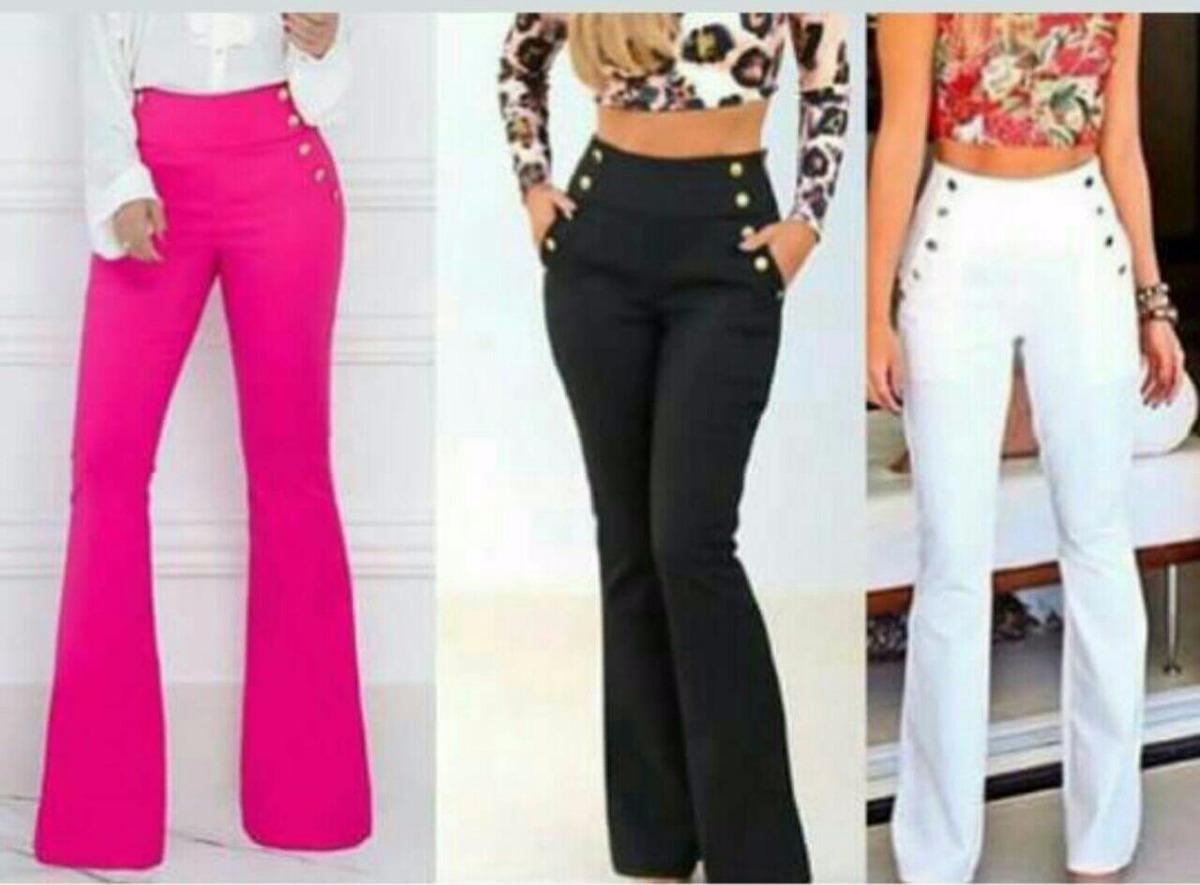 1f34c2504 calça feminina flare cintura alta plus size estilo social. Carregando zoom.