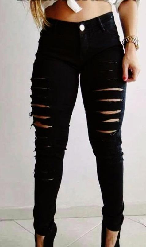 48a528a70 calça feminina hot pants cintura alta destroyed rasgada. Carregando zoom.