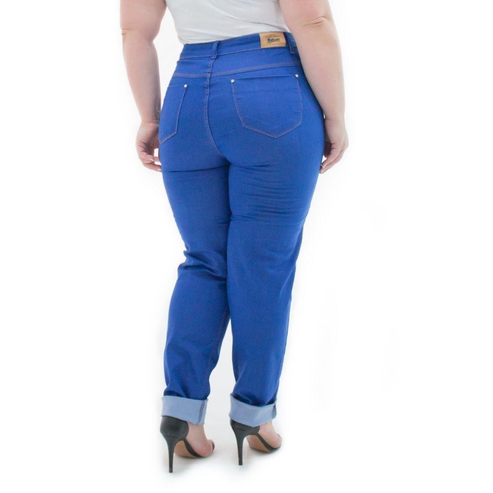 d21fab1d9 calça feminina jeans cigarrete com lycra plus size crj350. Carregando zoom.