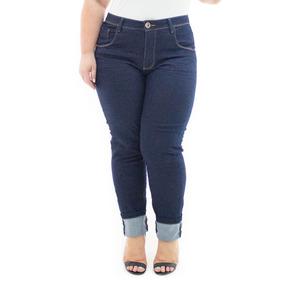 3b8a357a9be026 Calça Feminina Jeans Cigarrete Com Lycra Plus Size Crj352