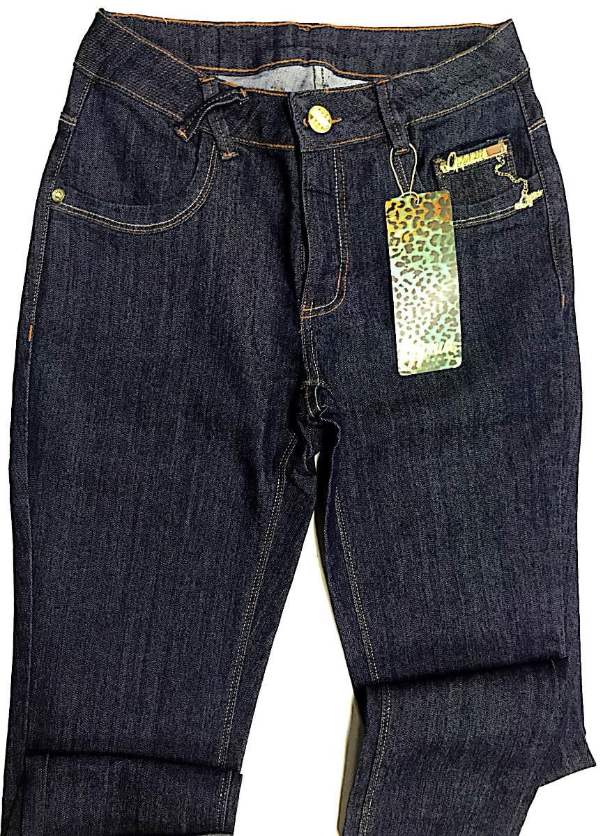d7dec93ad calça feminina jeans escuro oppnus skinny cos alto lycra. Carregando zoom.