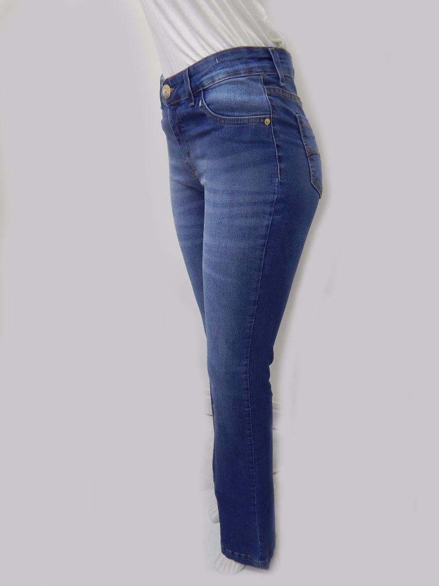 37d4a6eb8 calça feminina jeans flare moda roupa lycra destroyed. Carregando zoom.