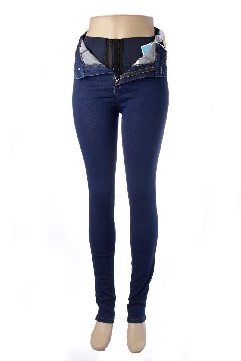 9dee6f231 calça feminina jeans legging super lipo cintura alta sawary. Carregando  zoom.