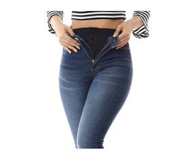 444fcc1090 Calça Jeans Feminina Legging Super Lipo Sawary Cintura Alta