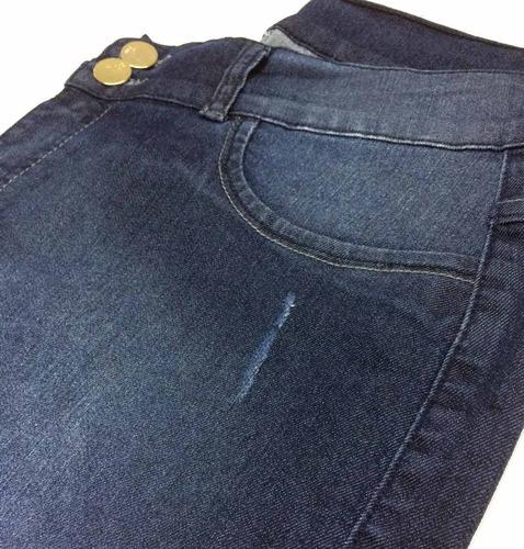 calça feminina jeans plus size peq defeito 46 50 56 58 7044