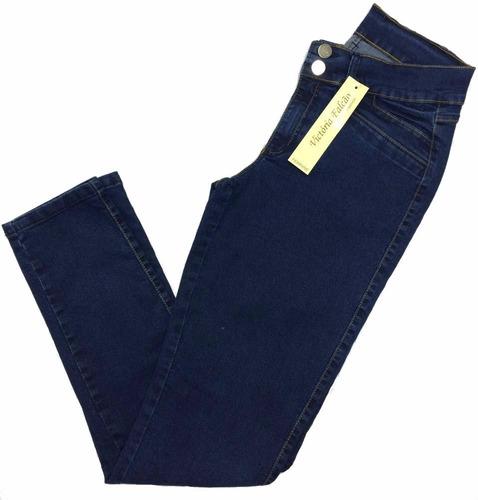calça feminina jeans plus size pequeno defeito 3001