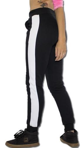 calça feminina jogger feminina com listra lateral v90