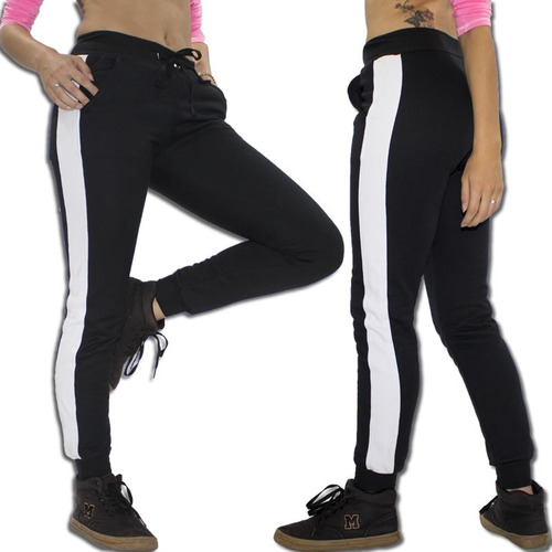 calça feminina jogger feminina com listra lateral vcstilo
