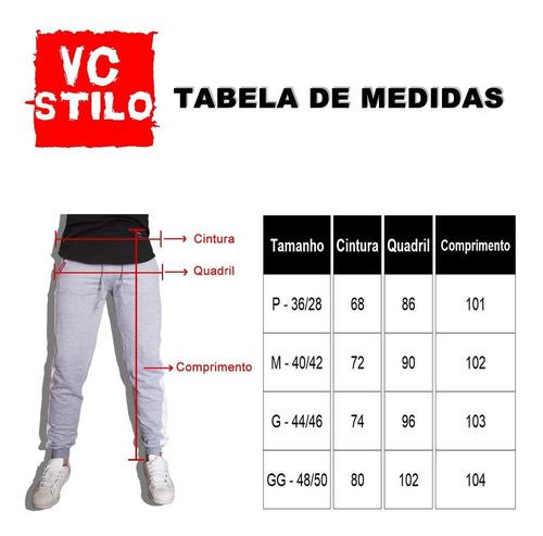 calça feminina jogger moletom vermelho v90 com listra