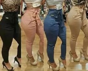 534abe4e5 Calça De Tecido Feminina - Calças Feminino no Mercado Livre Brasil