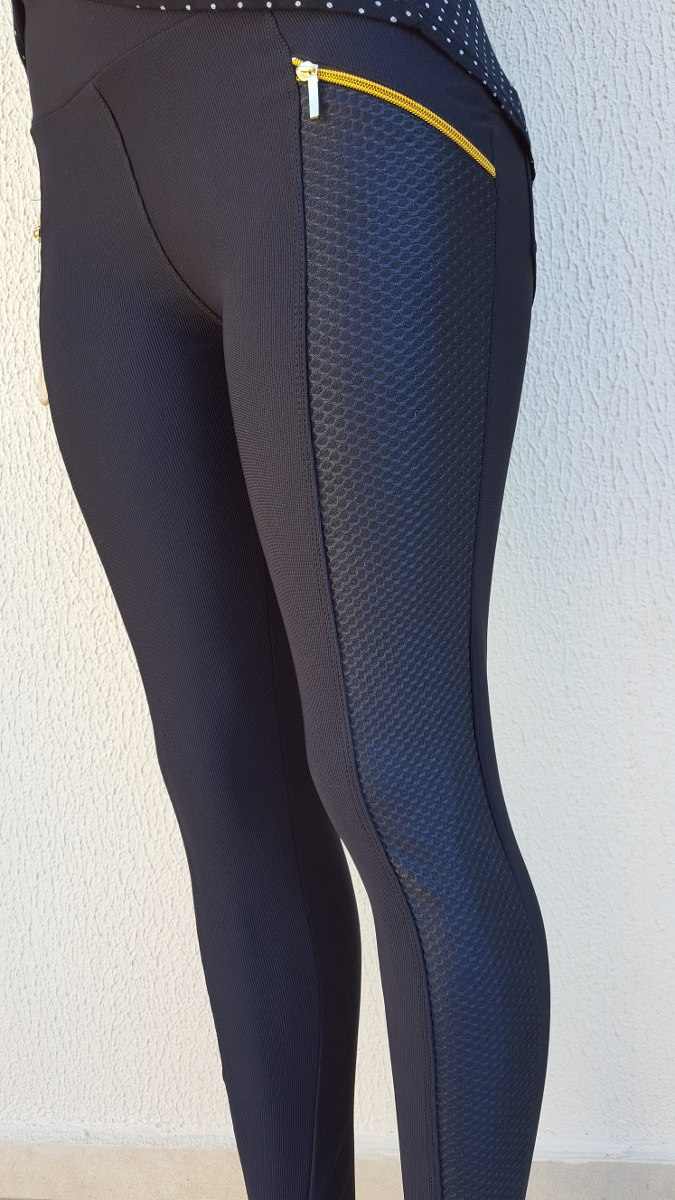 93e35c85d calça feminina legging montaria preta faixa couro lateral c3. Carregando  zoom.