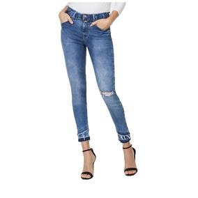 ef60f996c Calça Feminina Lez A Lez Jeans Cropped Cinto Elastic Jeans