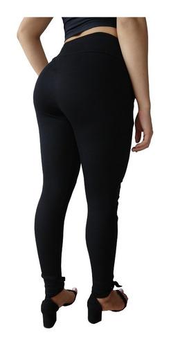 calça feminina malha canelada estilo moletom casual kit 5