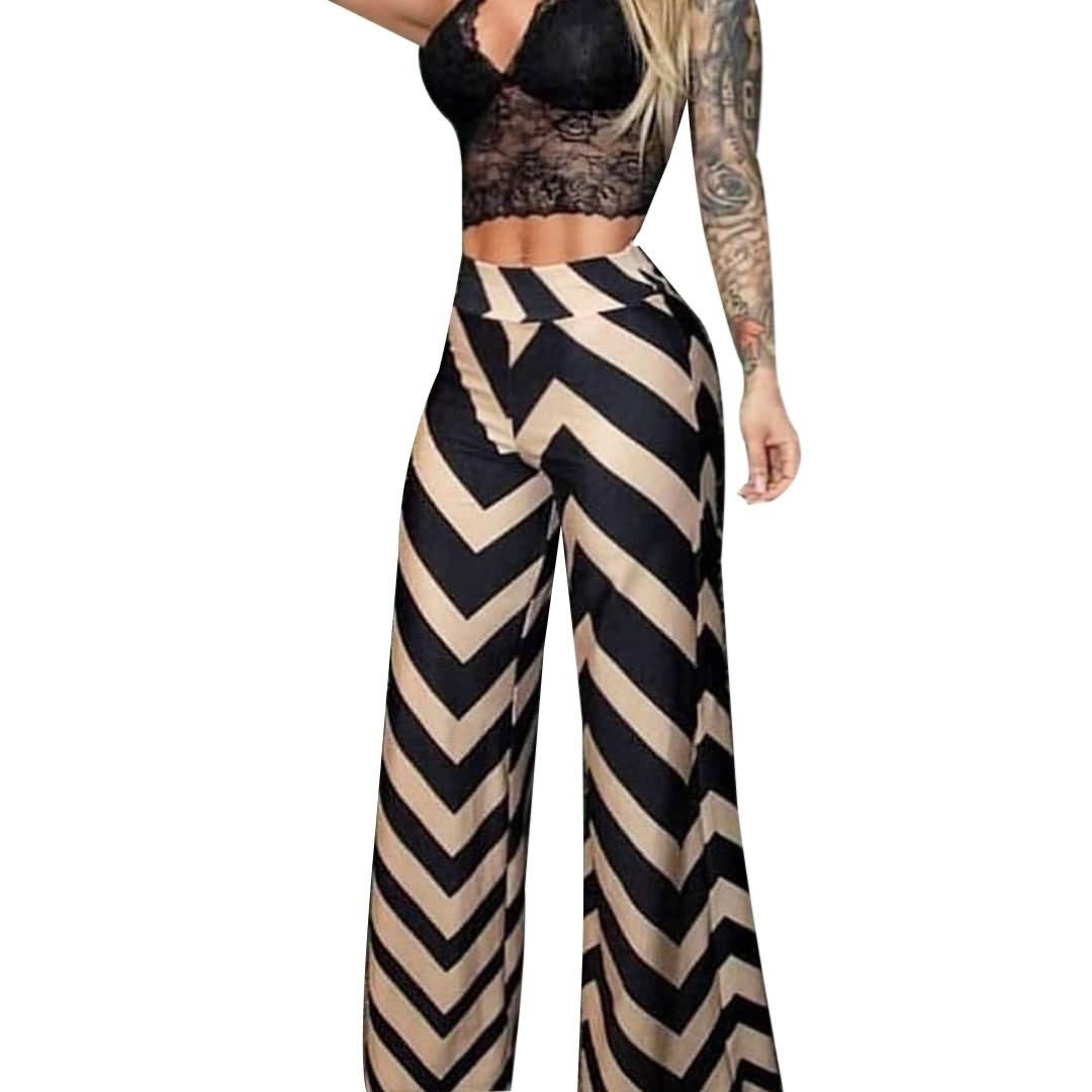 86a9c571e Calça Feminina Pantalona Soltinha Zig Zag Cintura Alta Cp 5a - R$ 69 ...