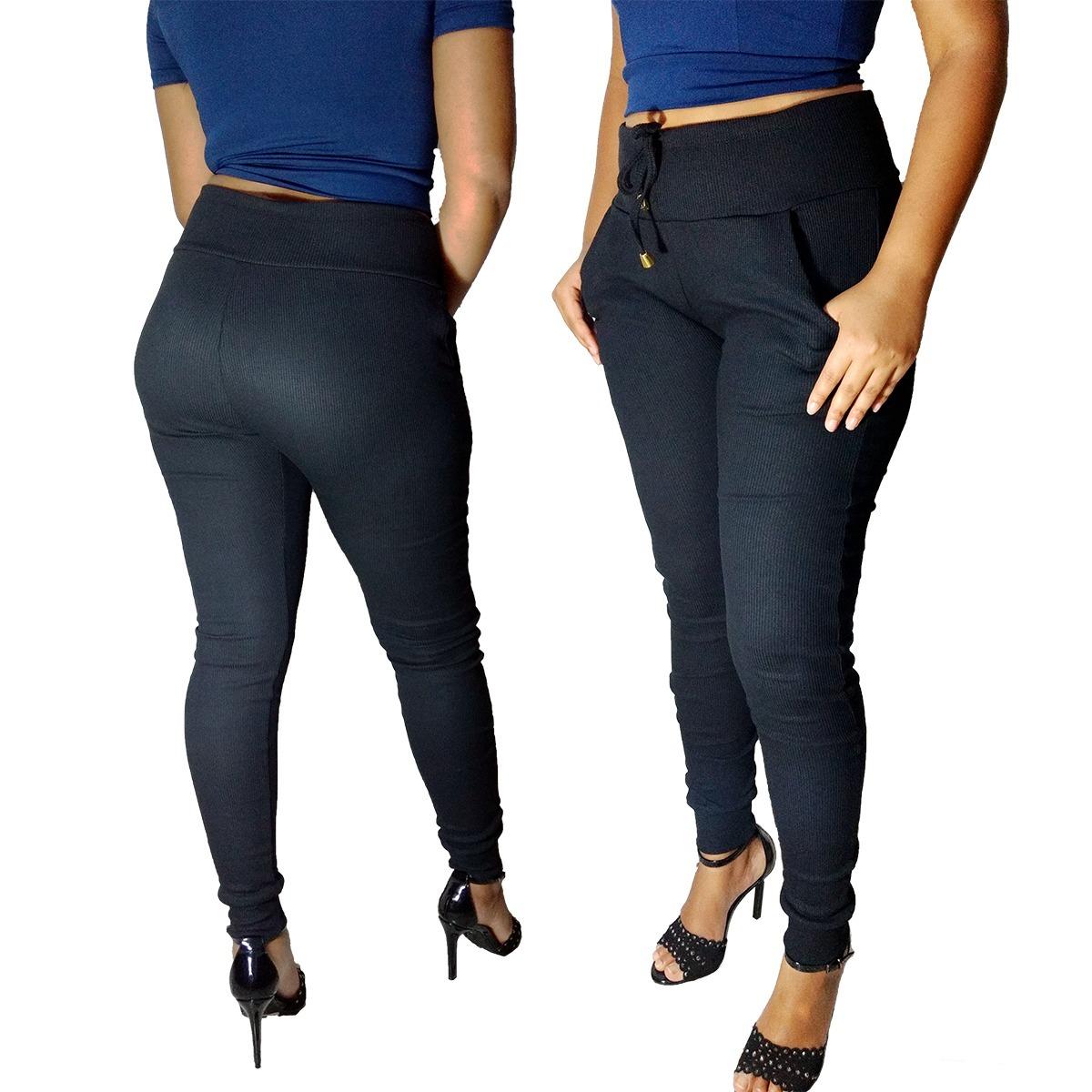 0c4d9a09d calca feminina ribana calça modeladora cintura alta top. Carregando zoom.