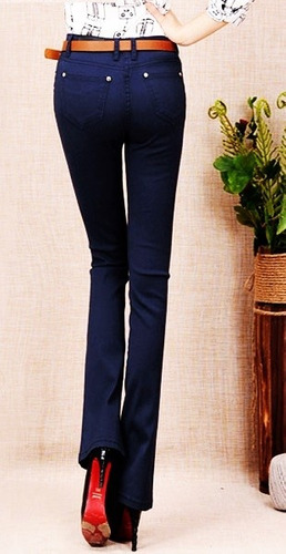 calça feminina sarja azul marinho dia dos namorados