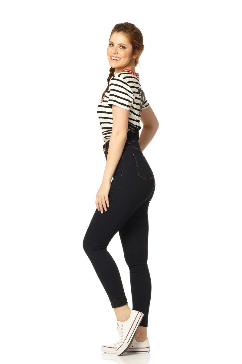2eba829b98 calça feminina skinny hot pants escura denim zero - dz2371. Carregando zoom.
