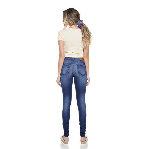 220b4d015 Calça Feminina Skinny Média Com Metais Denim Zero - Dz2765 - R$ 249 ...