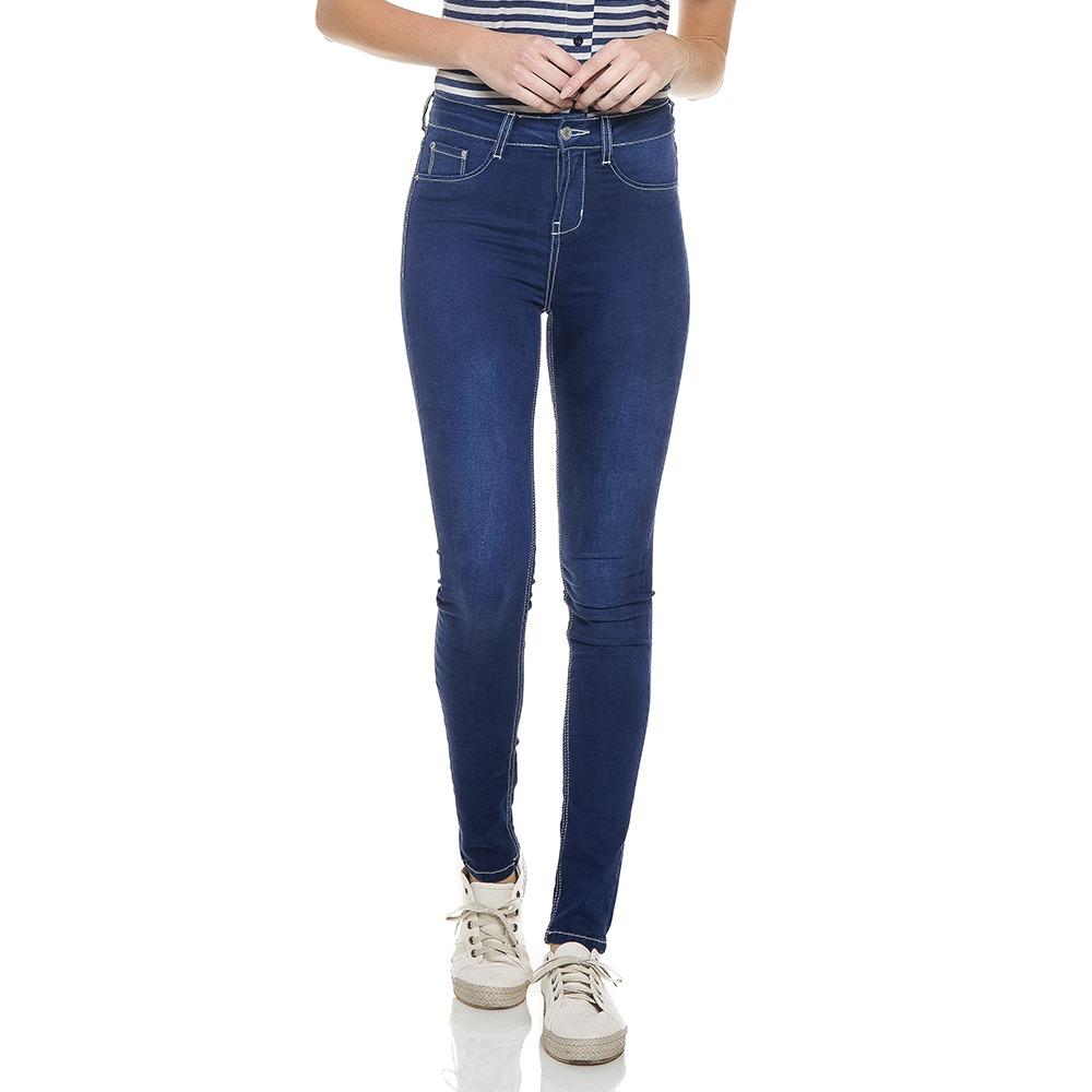 calça feminina skinny média escura denim zero - dz2764. Carregando zoom. 13fe6f0f10833