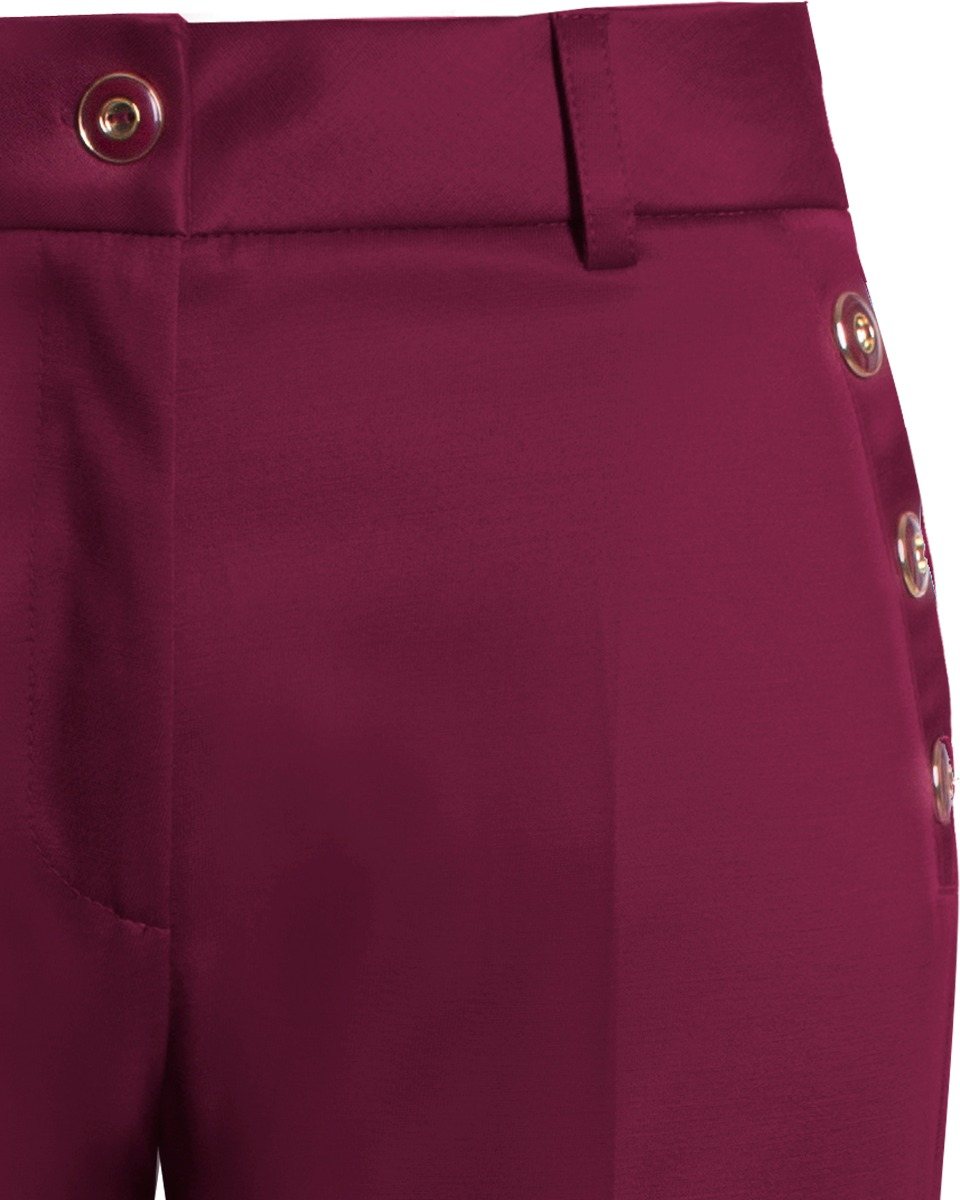 632b51cff calça feminina social reta com botões nas laterais seiki em. Carregando  zoom.