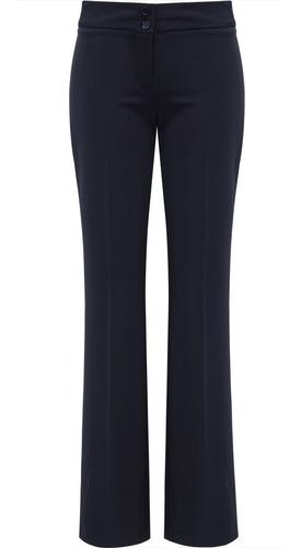 calça feminina social two way azul marinho seiki 150003