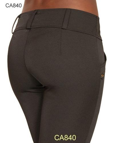 calça feminina social uniformes banco secretarias preta  840