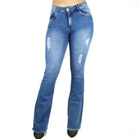 372d2ce6e Calça Flare Barra Desfiafa Country - Calças Jeans Feminino no Mercado Livre  Brasil