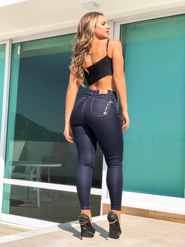 calça feminina sol jeans skinny hot pants com lycra azul