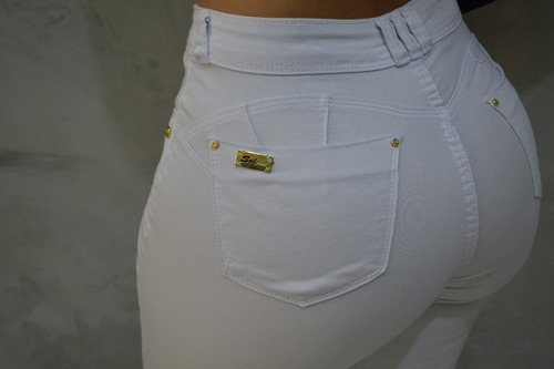 calça feminina sol skinny hot pants com lycra branca