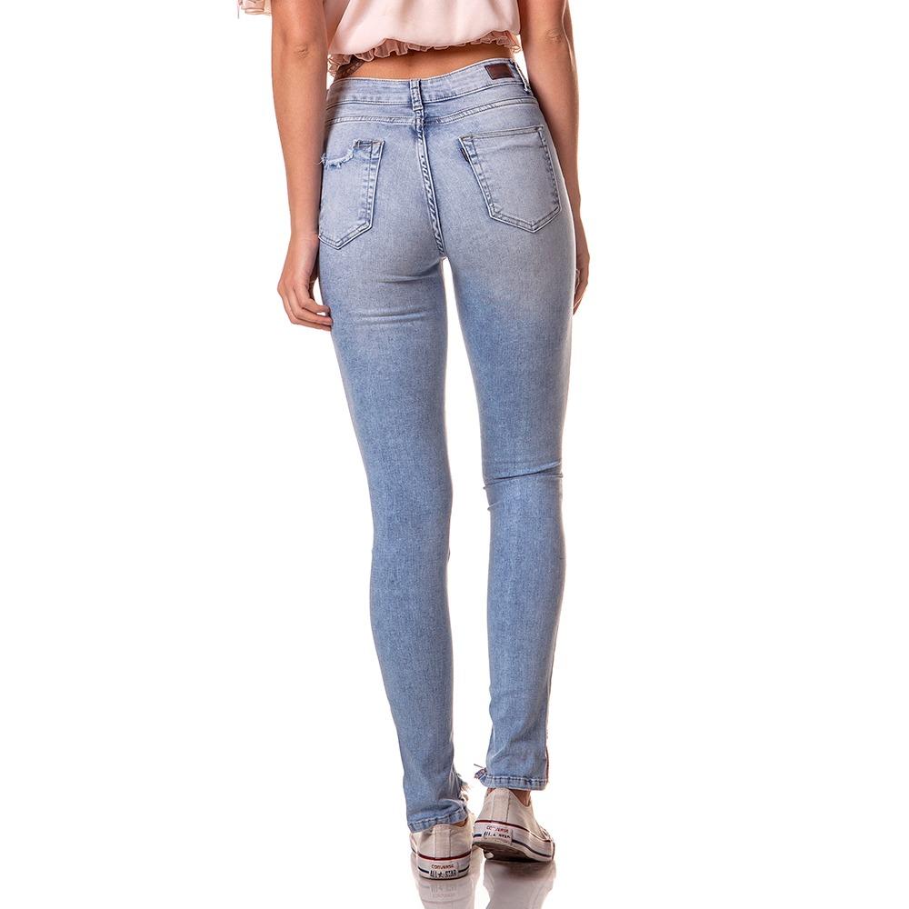 77994a2cfb611 calça femininno skinny média clara puídos denim zero-dz2718. Carregando  zoom.