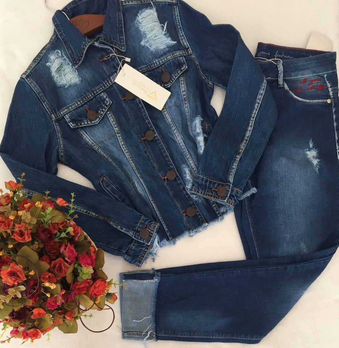 47f560ad0 Calça Five Denin Jeans Skinny Barra Bordada Rock Tam 42 - R$ 199,90 ...