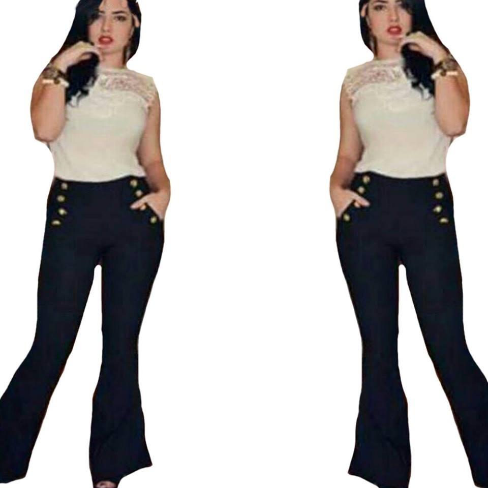 8091aa1cc calça flare bailarina boca sino larga e bolsos moda feminina. Carregando  zoom.