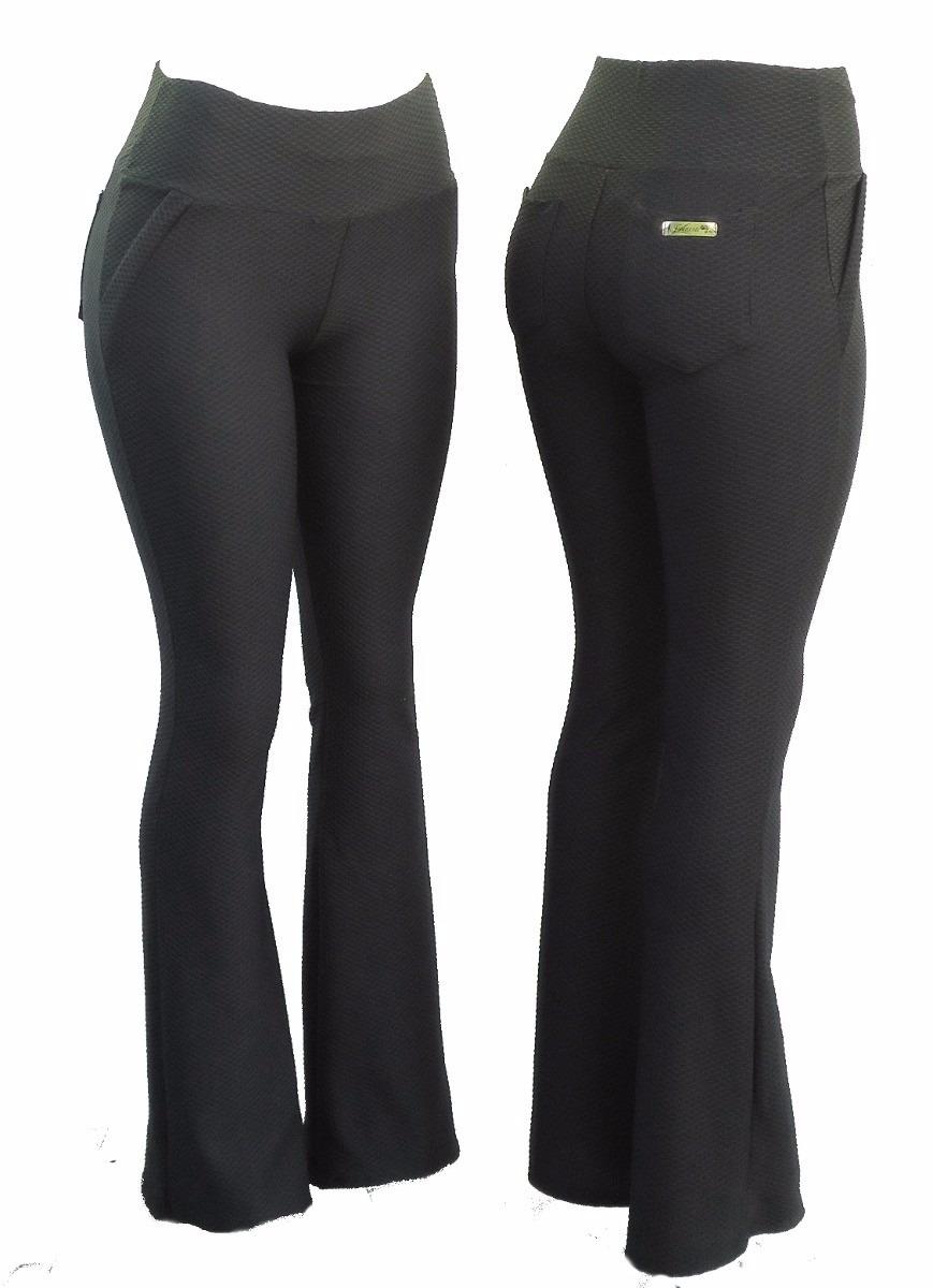 29ab2c3c0 calça flare cós alto texturizada mulheres modernas tendencia. Carregando  zoom.