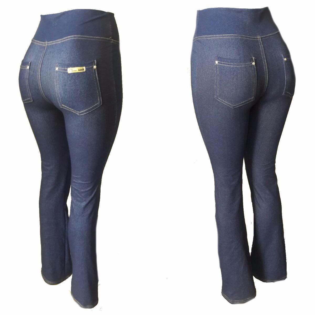 42e4ac725c68d Calça Flare Cotom Jeans Com Bolso Atrás P M G Gg - R  45