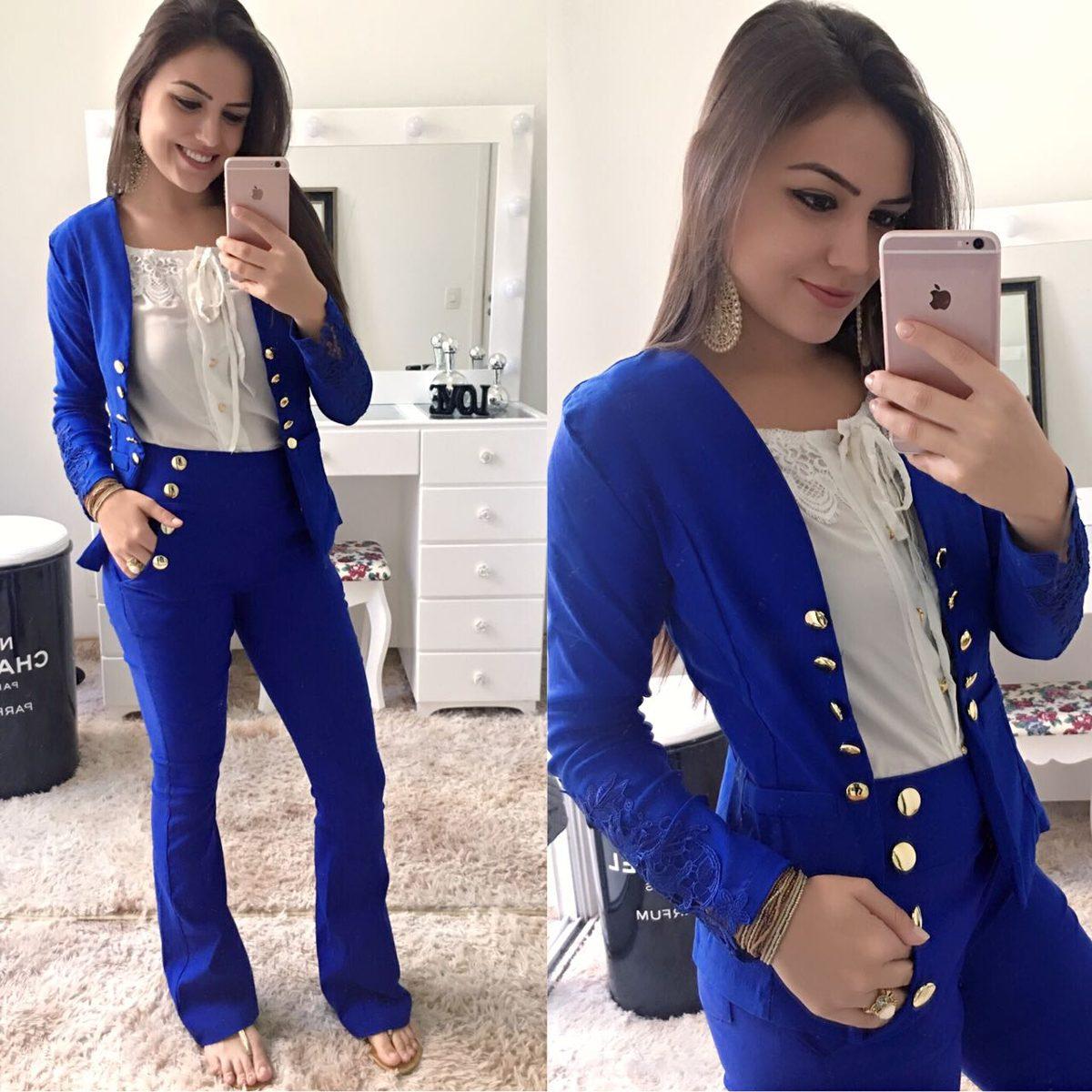 1f06c8820 Calça Flare Em Bengalini Botões Moda Instagram - R$ 79,00 em Mercado ...