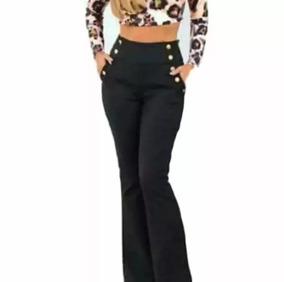 ee25f389c Calça Flare Jeans Sawary Com Cintura Média Muito Strech - Calças Feminino  no Mercado Livre Brasil