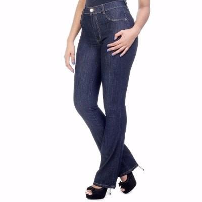 cdbeb3799 Calça Flare Feminina Jeans Com Elastano Sawary Hot Pants - R  254