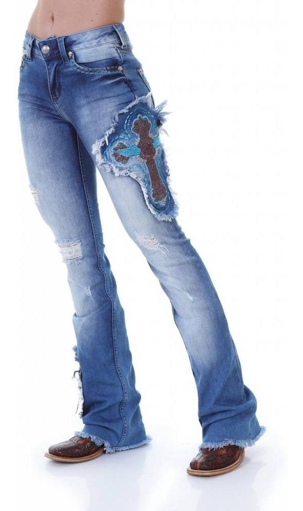 e612616d15d calça flare feminina zenz western rodeo lançamento cruz. Carregando zoom.