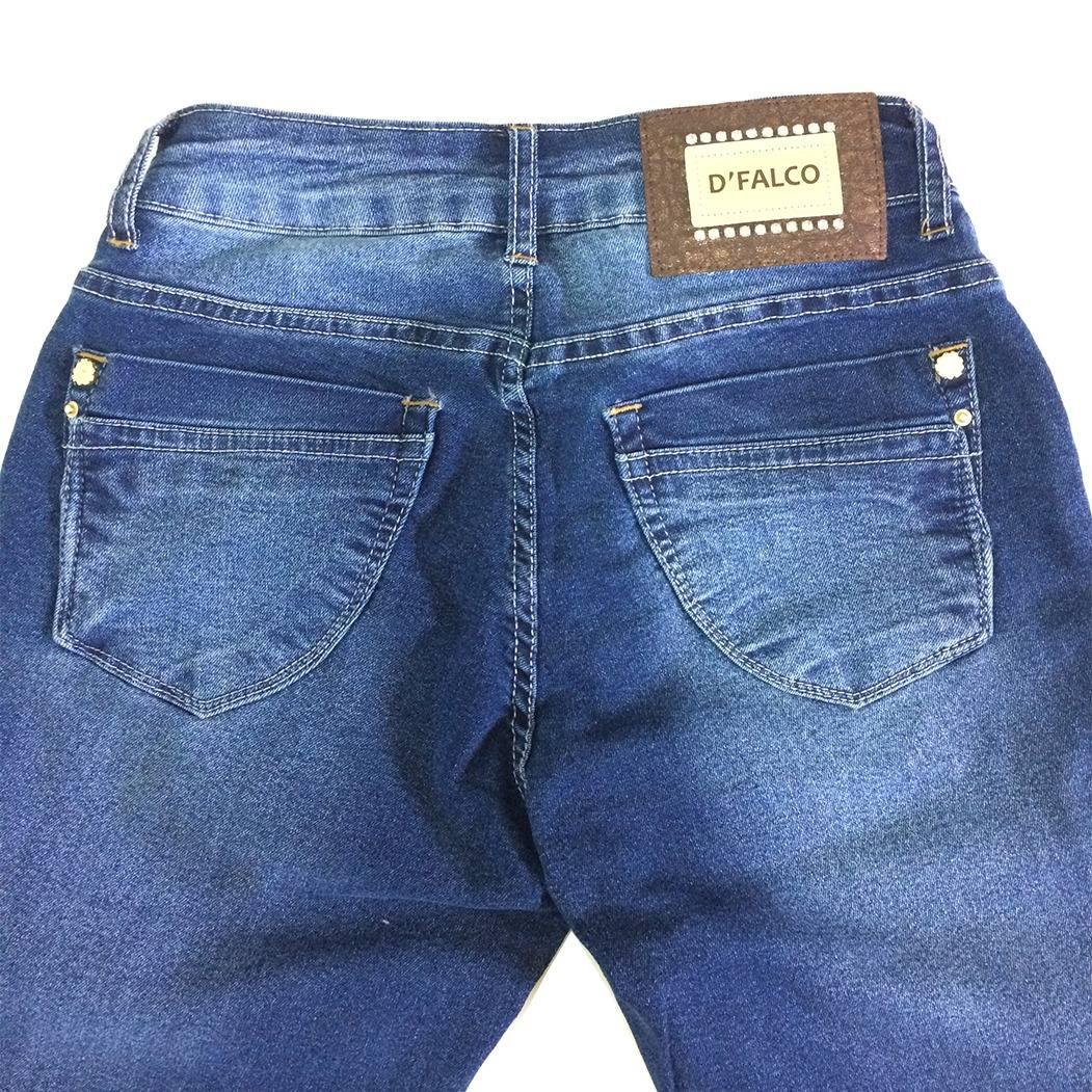 aacc49d14 calça flare jeans destroyed com lycra boca de sino moda 1147. Carregando  zoom.