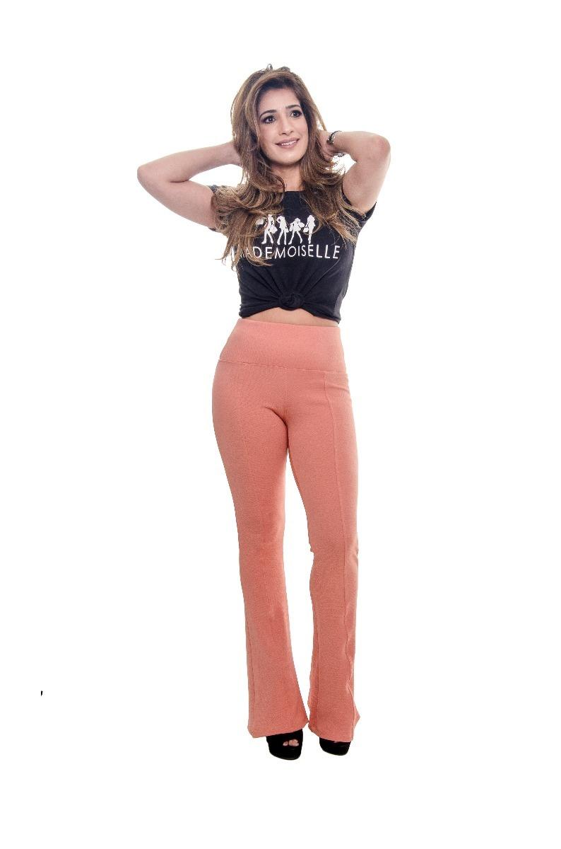 d56e1fe96d517 calça flare legging feminina coral mademoiselle. Carregando zoom.