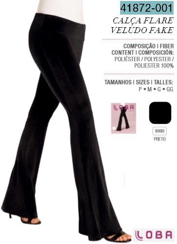 5ad2160f6 Calça Flare Loba Trend Veludo Fake Lupo 41872-001 - R  88