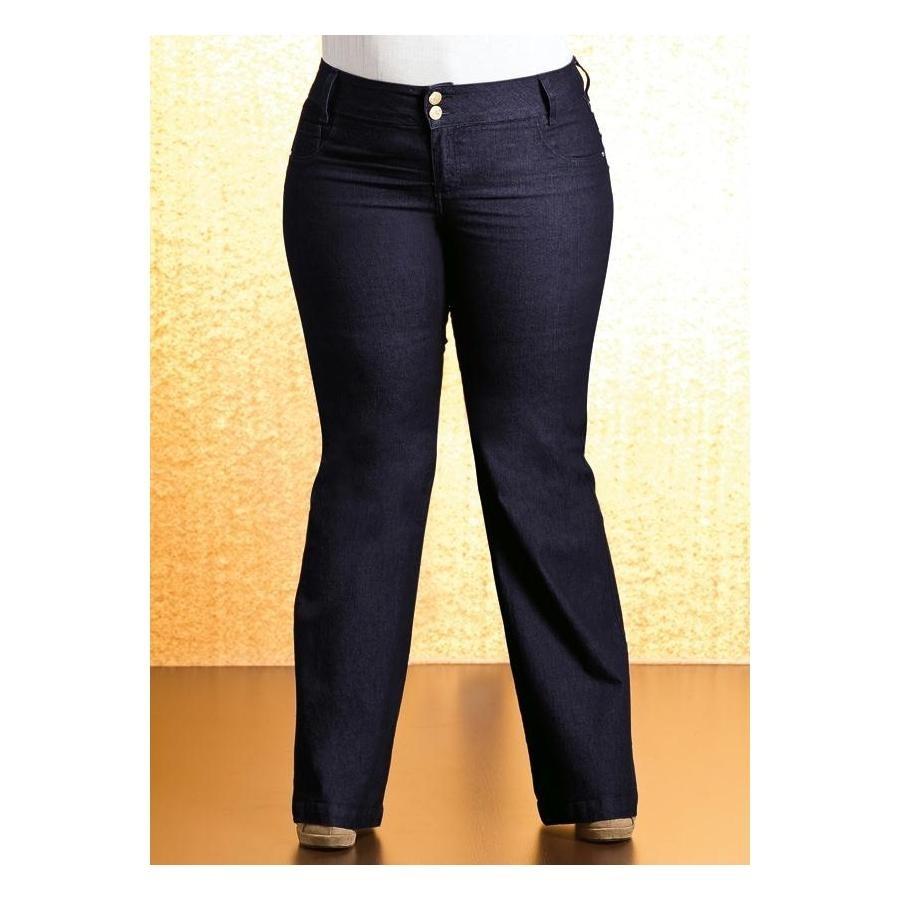 8c2b79b6a Calça Flare Plus Size Jeans Quintess - Beline - R$ 199,30 em Mercado ...