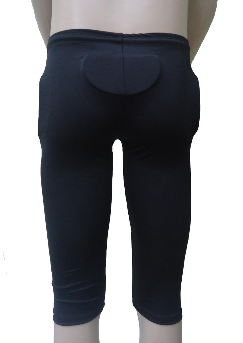 5603b7a9fe calça futebol americano completa preta c  7 pads tamanho pp. Carregando zoom .