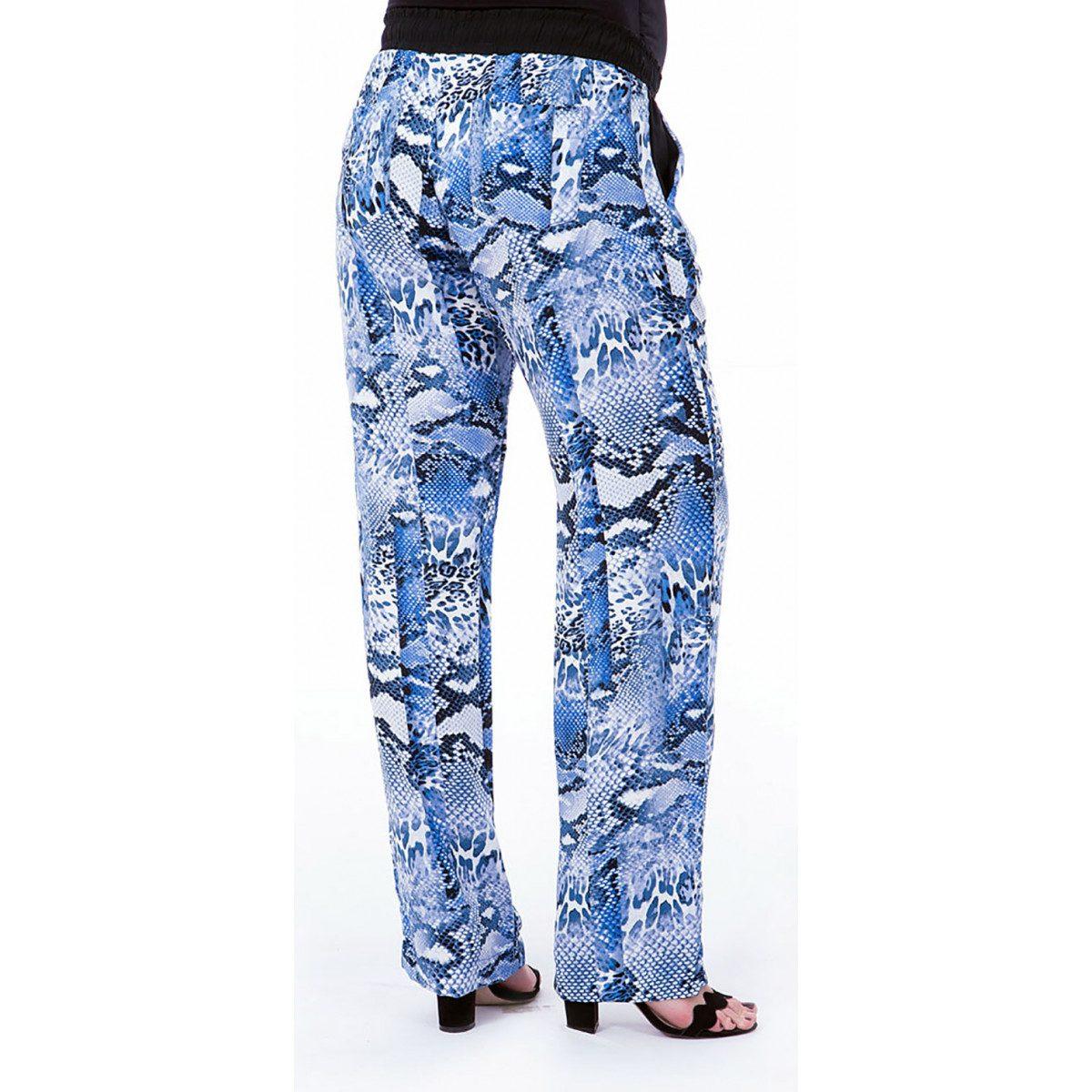 db476aaff calça gestante pijama viscose estampada azul para grávida. Carregando zoom.